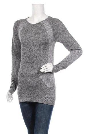 Дамска спортна блуза Work Out, Размер L, Цвят Сив, 67% полиестер, 30% полиамид, 3% еластан, Цена 16,80лв.