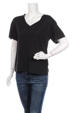 Γυναικείο t-shirt Cropp, Μέγεθος M, Χρώμα Μαύρο, 50% μοντάλ, 50% βαμβάκι, Τιμή 6,20€