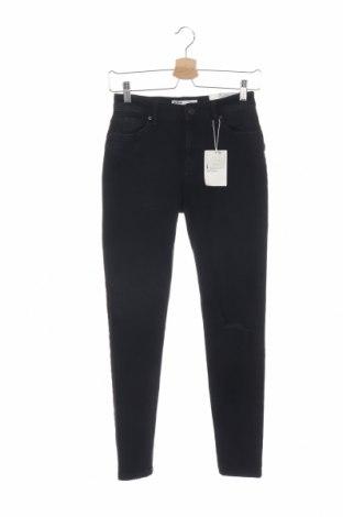 Дамски дънки Bershka, Размер XS, Цвят Черен, 99% памук, 1% еластан, Цена 25,99лв.
