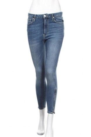 Дамски дънки Forever 21, Размер M, Цвят Син, 99% памук, 1% еластан, Цена 21,42лв.