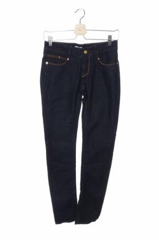 Дамски дънки GF Ferre', Размер S, Цвят Син, 72% памук, 28% лен, Цена 47,36лв.