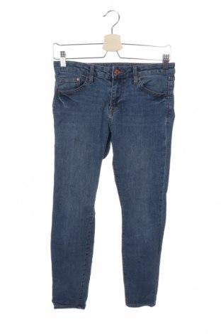 Дамски дънки H&M, Размер M, Цвят Син, 79% памук, 19% полиестер, Цена 21,32лв.