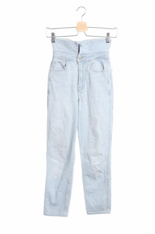 Дамски дънки Hollister, Размер XXS, Цвят Син, 98% памук, 2% еластан, Цена 20,53лв.