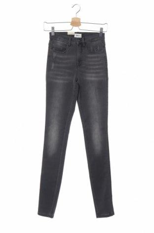 Дамски дънки ONLY, Размер XS, Цвят Сив, 60% памук, 39% полиестер, 1% еластан, Цена 25,50лв.