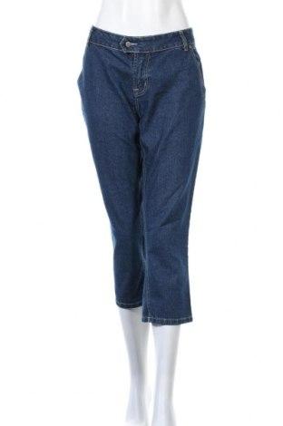 Дамски дънки Popin, Размер XL, Цвят Син, 75% памук, 23% полиестер, 2% еластан, Цена 16,38лв.