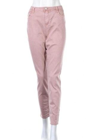 Дамски дънки Yessica, Размер XL, Цвят Розов, 65% памук, 32% полиестер, 3% еластан, Цена 22,94лв.