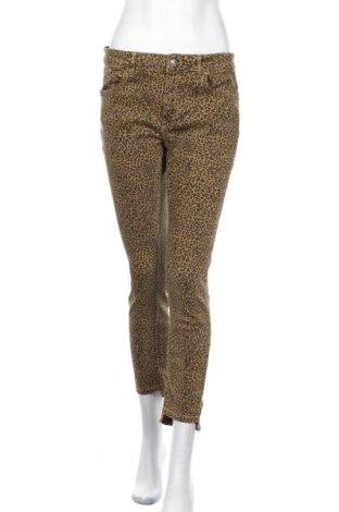 Дамски дънки Zara, Размер L, Цвят Зелен, 98% памук, 2% еластан, Цена 24,00лв.