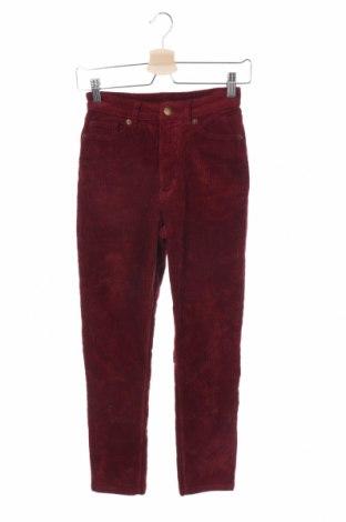Дамски джинси Monki, Размер XXS, Цвят Червен, 99% памук, 1% еластан, Цена 25,52лв.