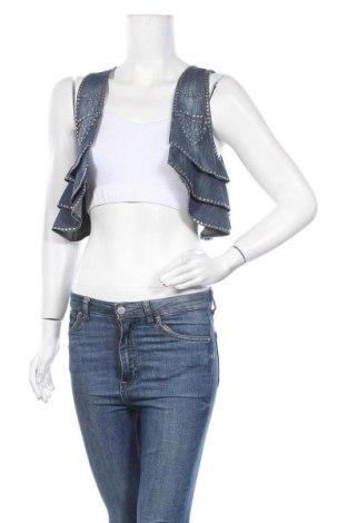 Дамски елек Perfect Jeans By Gina Tricot, Размер XS, Цвят Син, Памук, Цена 4,73лв.