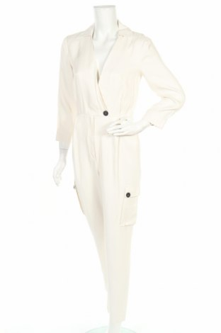 Dámský overal Massimo Dutti, Velikost S, Barva Krémová, Viskóza, Cena  864,00Kč