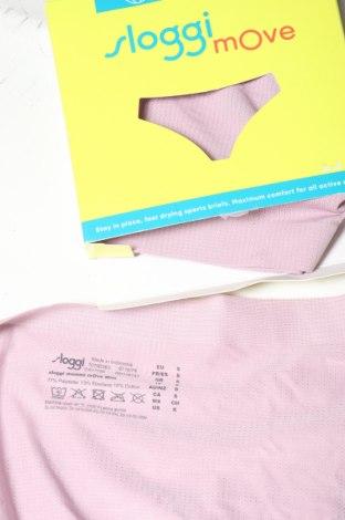 Дамски комплект Sloggi, Размер S, Цвят Розов, 77% полиестер, 13% еластан, 10% памук, Цена 19,50лв.