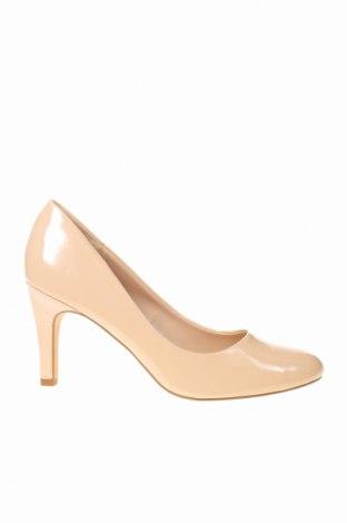 Дамски обувки La Redoute, Размер 41, Цвят Бежов, Еко кожа, Цена 13,00лв.