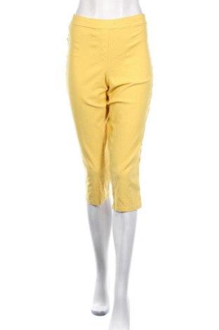 Γυναικείο παντελόνι Zac & Rachel, Μέγεθος L, Χρώμα Κίτρινο, 76% βισκόζη, 21% πολυαμίδη, 3% ελαστάνη, Τιμή 13,51€