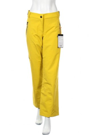 Дамски панталон за зимни спортове Ziener, Размер L, Цвят Жълт, 100% полиамид, Цена 84,42лв.