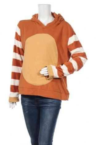 Дамски поларен суичър, Размер XL, Цвят Оранжев, Полиестер, Цена 19,69лв.