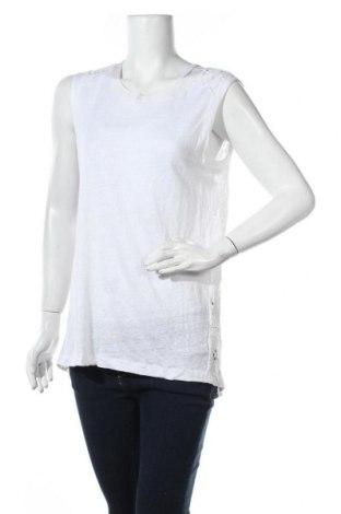 Γυναικείο αμάνικο μπλουζάκι Nice Connection, Μέγεθος XL, Χρώμα Λευκό, Λινό, Τιμή 5,34€