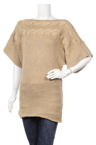 Дамски пуловер, Размер M, Цвят Бежов, Цена 6,28лв.