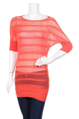 Дамски пуловер 3 Suisses Collection, Размер XS, Цвят Оранжев, 90% вискоза, 10% метални нишки, Цена 5,25лв.