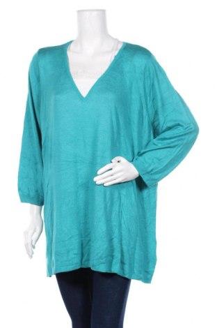 Дамски пуловер Beme, Размер 3XL, Цвят Син, Вискоза, акрил, Цена 23,63лв.