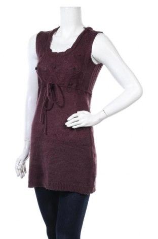 Дамски пуловер Clockhouse, Размер M, Цвят Лилав, Акрил, Цена 4,58лв.