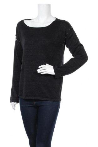 Дамски пуловер Life Time, Размер M, Цвят Черен, 44% памук, 36% акрил, 20% метални нишки, Цена 6,04лв.