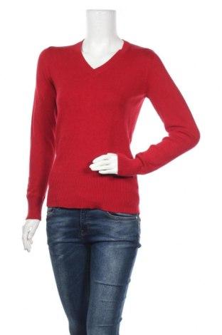 Дамски пуловер Oxylane, Размер S, Цвят Червен, 92% памук, 6% полиамид, 2% еластан, Цена 17,64лв.