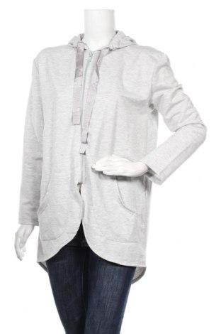 Дамски суичър, Размер L, Цвят Сив, 72% памук, 22% полиестер, 6% еластан, Цена 12,08лв.
