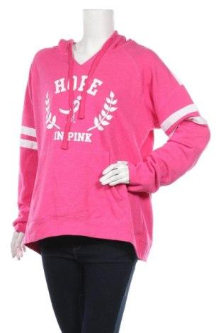 Дамски суичър, Размер XL, Цвят Розов, 57% памук, 43% полиестер, Цена 20,16лв.