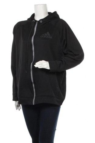 Дамски суичър Adidas, Размер XL, Цвят Черен, Полиестер, Цена 34,81лв.