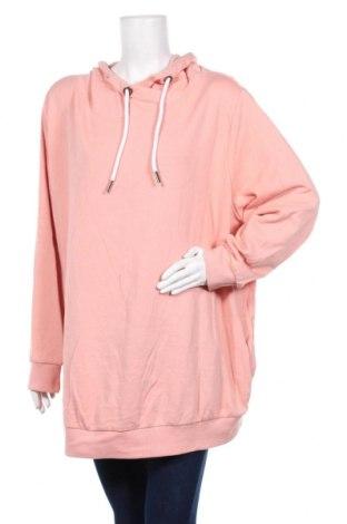 Дамски суичър Bpc Bonprix Collection, Размер 4XL, Цвят Розов, 60% памук, 40% полиестер, Цена 23,94лв.