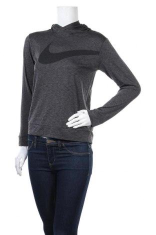 Дамски суичър Nike, Размер M, Цвят Сив, Полиестер, Цена 23,94лв.