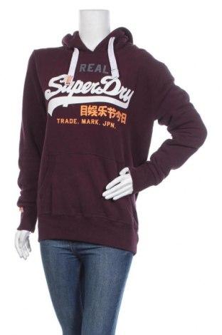 Дамски суичър Superdry, Размер M, Цвят Червен, 50% памук, 50% полиестер, Цена 65,25лв.