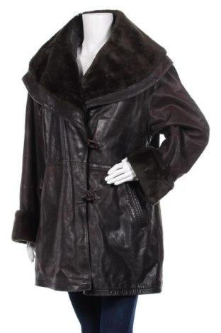Дамско кожено палто Clement, Размер L, Цвят Кафяв, Естествена кожа, Цена 72,45лв.