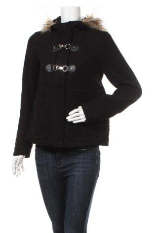 Дамско палто H&M Divided, Размер M, Цвят Черен, 84% полиестер, 15% вискоза, 1% еластан, Цена 26,46лв.