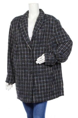 Дамско палто Samoon, Размер 3XL, Цвят Многоцветен, 65% вълна, 22% полиамид, 10% полиакрил, 3% коприна, Цена 45,36лв.