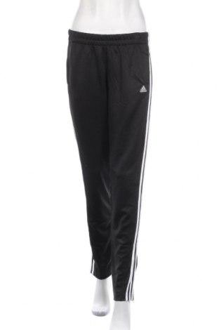Дамско спортно долнище Adidas, Размер M, Цвят Черен, Полиестер, Цена 27,30лв.