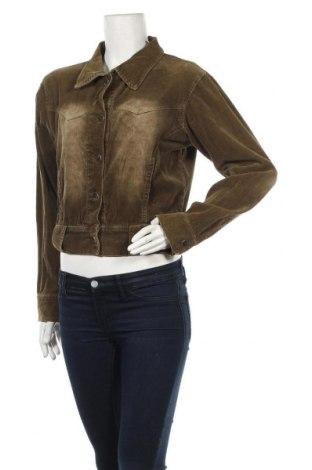 Дамско яке, Размер M, Цвят Зелен, 95% памук, 5% полиестер, Цена 6,80лв.