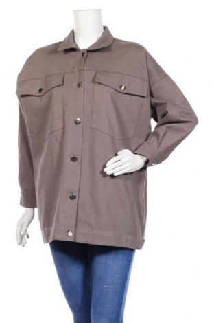 Γυναικείο μπουφάν Boohoo, Μέγεθος S, Χρώμα Γκρί, 100% βαμβάκι, Τιμή 14,35€