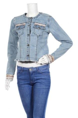 Дамско яке Esqualo, Размер S, Цвят Син, 70% полиестер, 28% памук, 2% еластан, Цена 46,94лв.