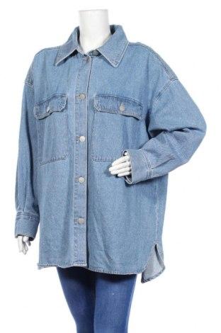Дамско яке H&M, Размер XL, Цвят Син, Памук, Цена 30,74лв.