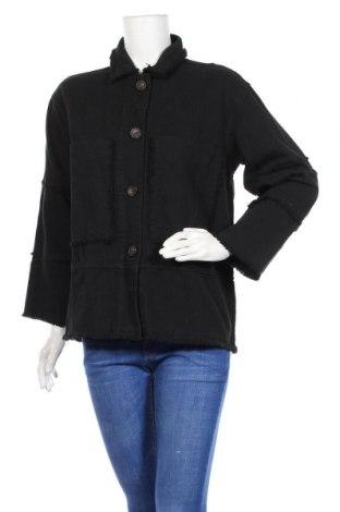 Дамско яке Zara Trafaluc, Размер S, Цвят Черен, 100% памук, Цена 51,88лв.