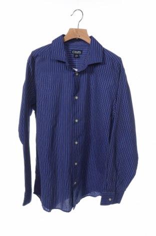 Детска риза Chaps, Размер 14-15y/ 168-170 см, Цвят Син, 55% памук, 45% полиестер, Цена 5,88лв.