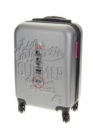 Куфар Lulu Castagnette, Цвят Сив, Полиуретан, Цена 96,56лв.