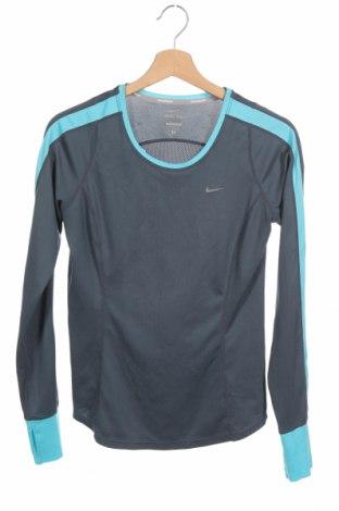 Дамска спортна блуза Nike, Размер S, Цвят Сив, Полиестер, Цена 17,85лв.