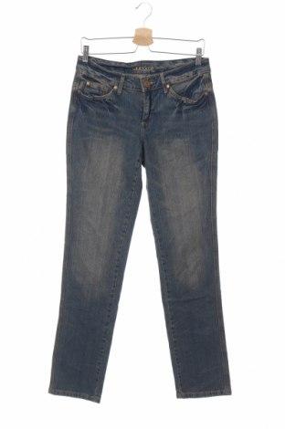Дамски дънки Laura Scott, Размер M, Цвят Син, 98% памук, 2% еластан, Цена 12,50лв.