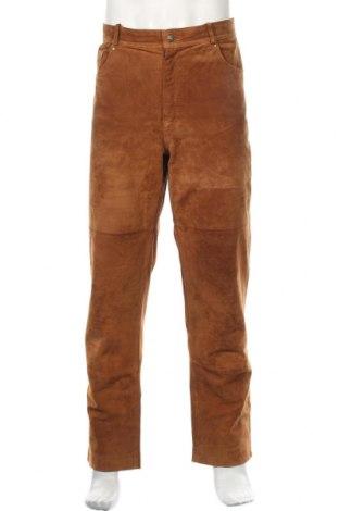 Мъжки кожен панталон Authentic Clothing Company, Размер XL, Цвят Кафяв, Естествена кожа, Цена 39,69лв.