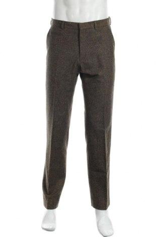 Ανδρικό παντελόνι Hugo Boss, Μέγεθος M, Χρώμα Καφέ, Μαλλί, Τιμή 25,55€