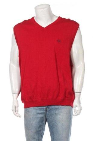 Мъжки пуловер Chaps, Размер XXL, Цвят Червен, Памук, Цена 17,05лв.