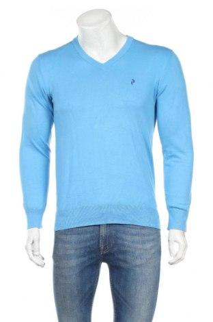 Мъжки пуловер Peak Performance, Размер M, Цвят Син, 80% памук, 20% полиамид, Цена 21,17лв.