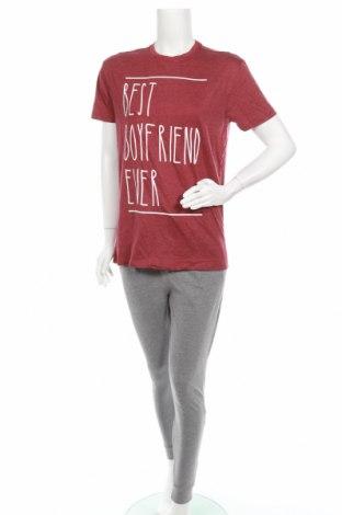 Пижама Undiz, Размер XS, Цвят Червен, 60% памук, 40% полиестер, Цена 34,45лв.